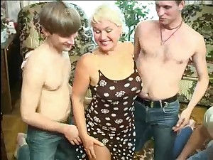 Older wife group-fucked