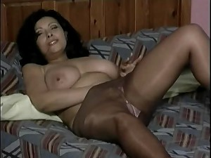 Older in Hose Fingers Herself