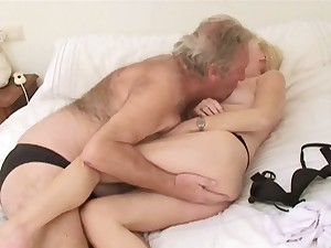 Curly Older man with Wife