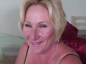 older blond engulf 2 darksome dongs