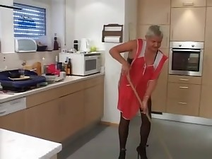 Perverted and sexually excited grannies fucking sumptuously