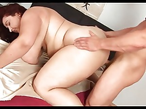 Unforgettable Redhead-BBW-Milf with Huge-Boobs drilled