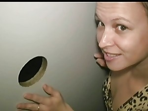 non-professional dick starveling in gloryhole