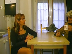 French Papy & older bitch in the educate